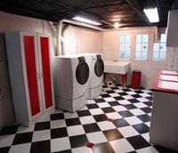 Die Waschküche von Jack Whites Haus - Style indeed!