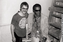 Claude Nobs (links) mit Chuck Berry