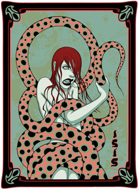 Schlangen können eklig sein: Tara McPherson (Illustration)