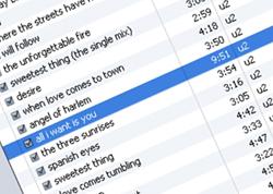 Schau' mein iTunes, schau' meine Seele. Und meine Liebe zu Bono.
